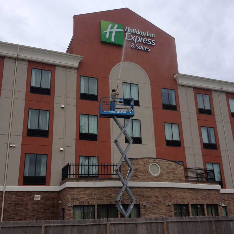 Commercial Building Cleaning : Before and after gallery pressure washing san antonio