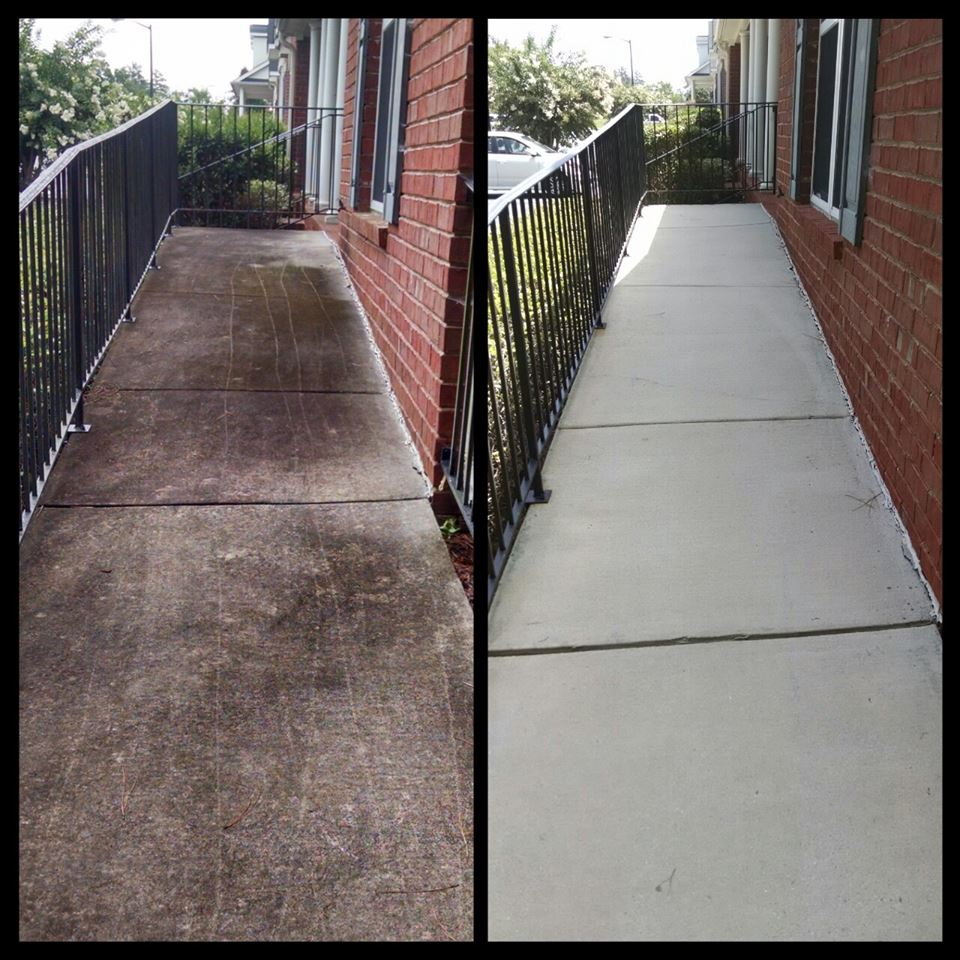 Before And After Gallery Commercial Pressure Washing San
