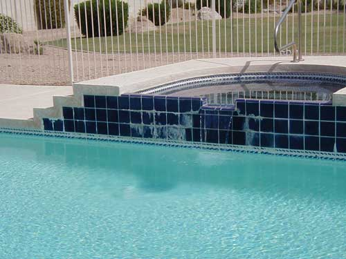 Pool Tile Stain Removal With Media Blasting Calcium